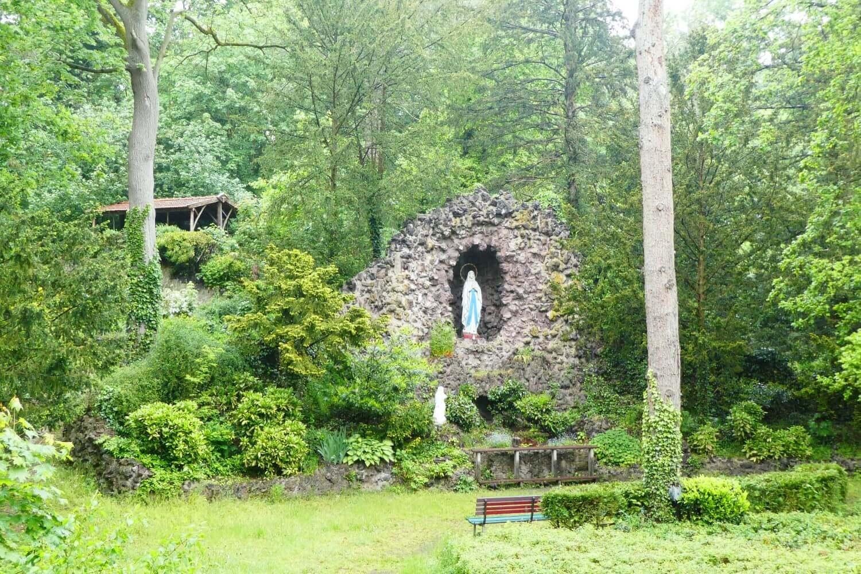 The Lourdes grotto in the convent garden, Limburg