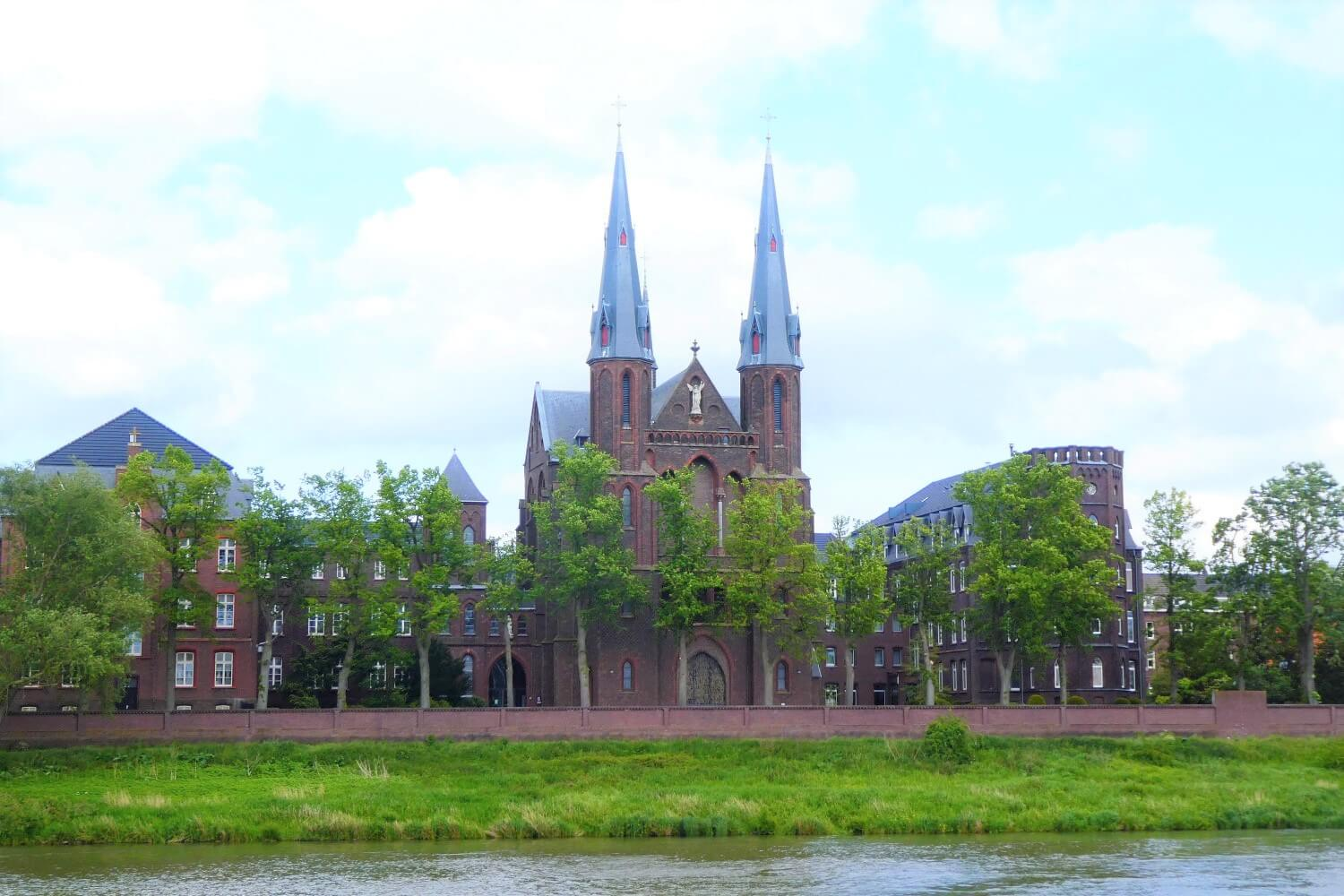 The view of the Mission House St. Michael on the Meuse