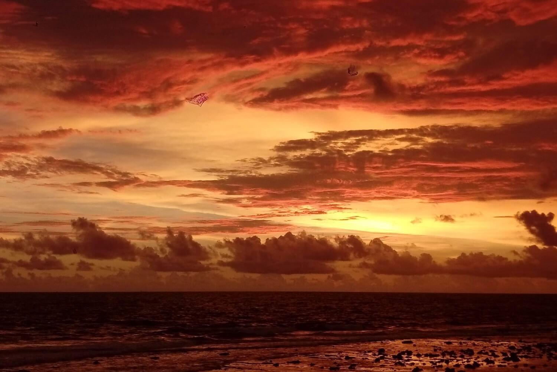 Sunset in Galle, Sri Lanka