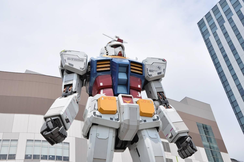 The robot Gundam on Odaiba, Japan