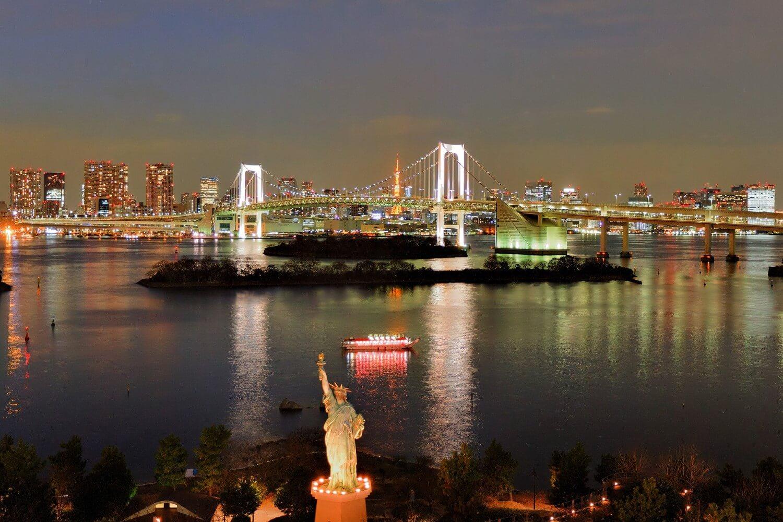 Statue of Liberty and the Rainbow Bridge