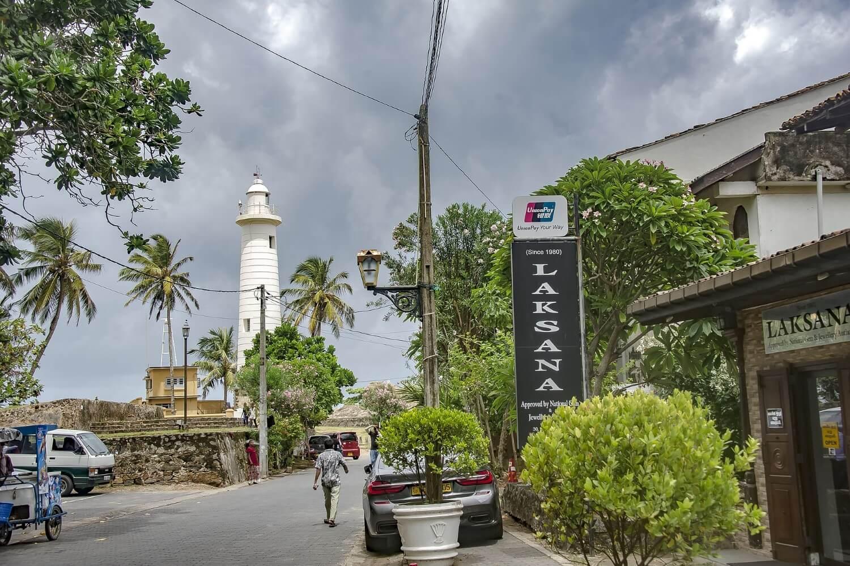 The lighthouse of Dutch Fort, Sri Lanka